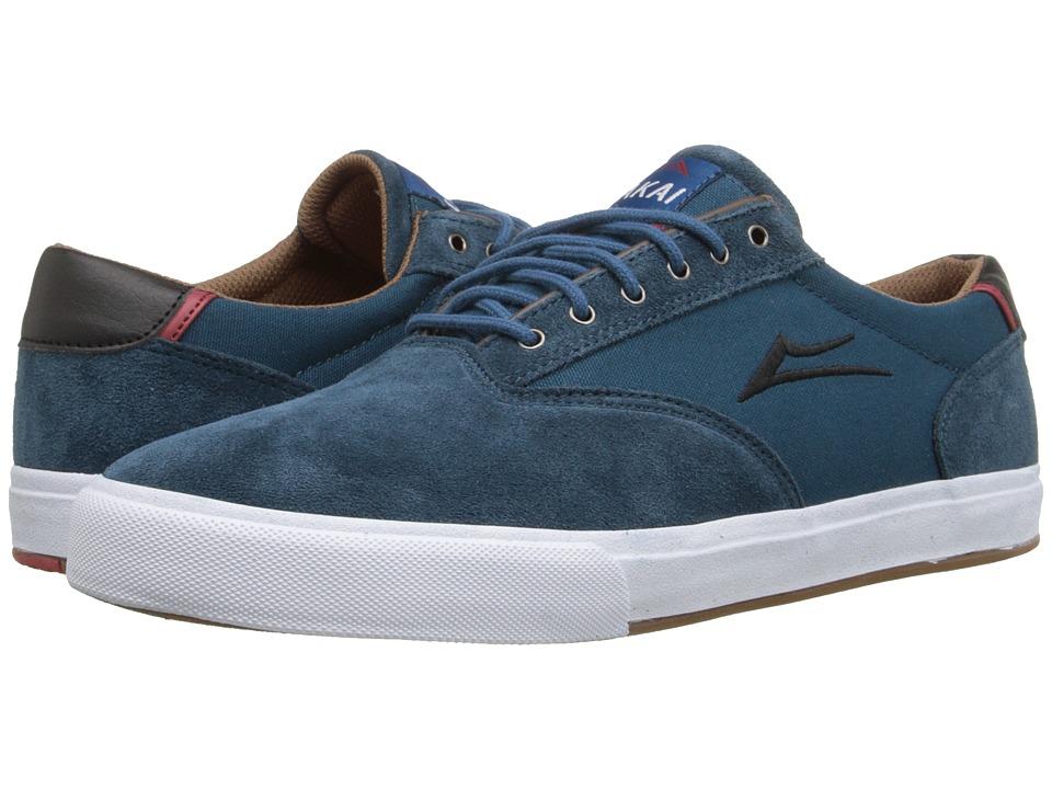 Lakai GuyMar Ink Blue Suede Mens Skate Shoes