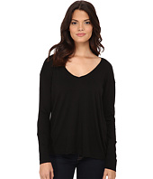 Michael Stars - Luxe Slub Long Sleeve Vee Neck w/ Cuff