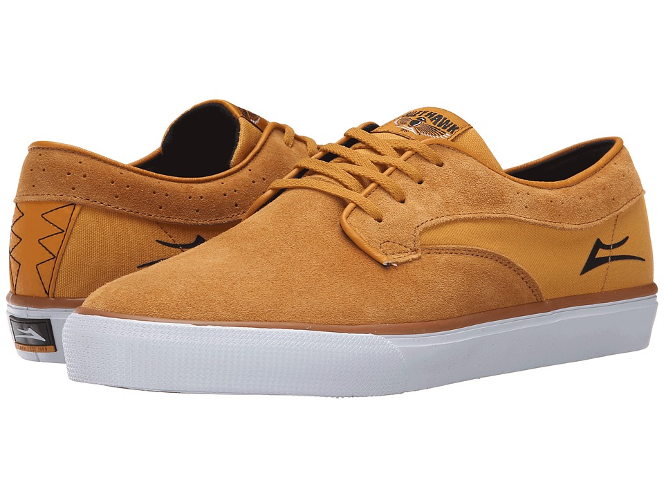 Lakai Riley Hawk Gold Suede Mens Skate Shoes
