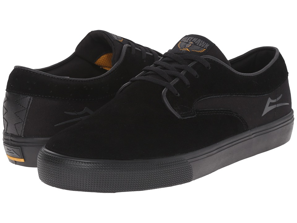 Lakai Riley Hawk Black/Black Suede Mens Skate Shoes