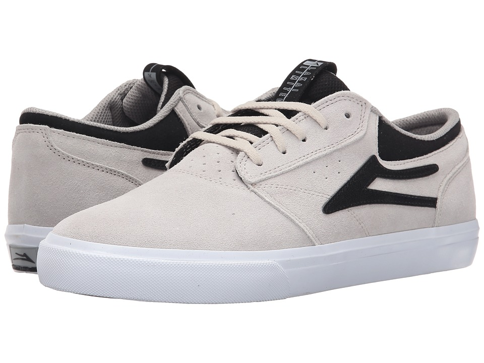 Lakai Griffin White/Black Suede Mens Skate Shoes