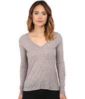 Michael Stars - Soft Wool Blend Jersey Long Sleeve Vee Neck