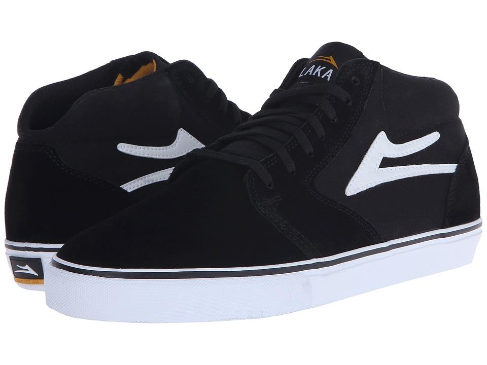 Lakai Fura High Black/White Suede Mens Skate Shoes