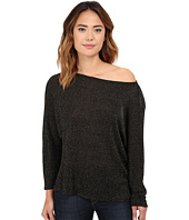 Michael Stars - Lurex Sweater Rib Off Shoulder Dolman