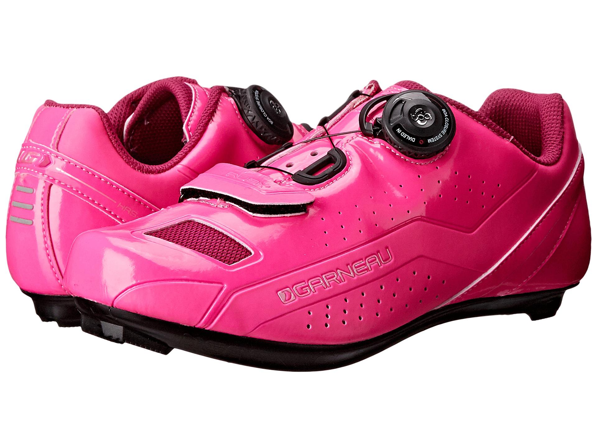 louis garneau ruby pink glow cycling shoes