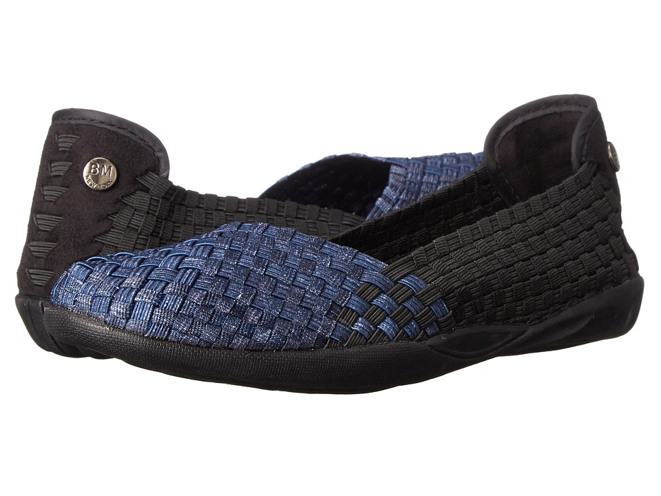 bernie mev. - Catniss (Black/Jeans) Womens Slip on  Shoes