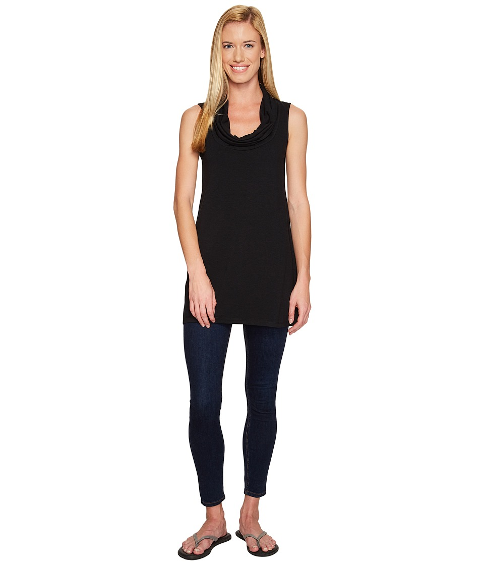 FIG Clothing - Tuc Top (Black) Womens Clothing