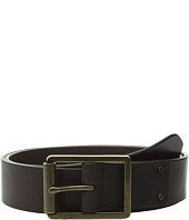 Cole Haan - 35mm Smooth Leather Belt with Center Bar Buckle