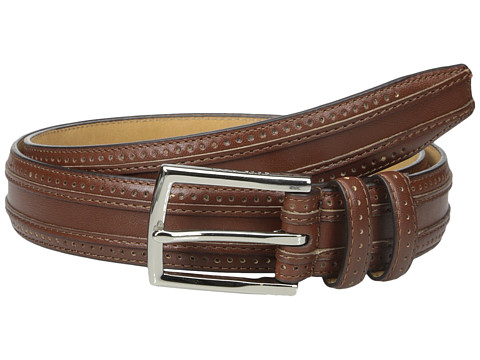 Cole Haan 30mm Feather Edge Stitched Strap with Perforation and Overlay Detail