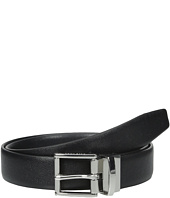 Cole Haan - 32mm Reversible Caviar to Dress Veg Belt with Harness Buckle