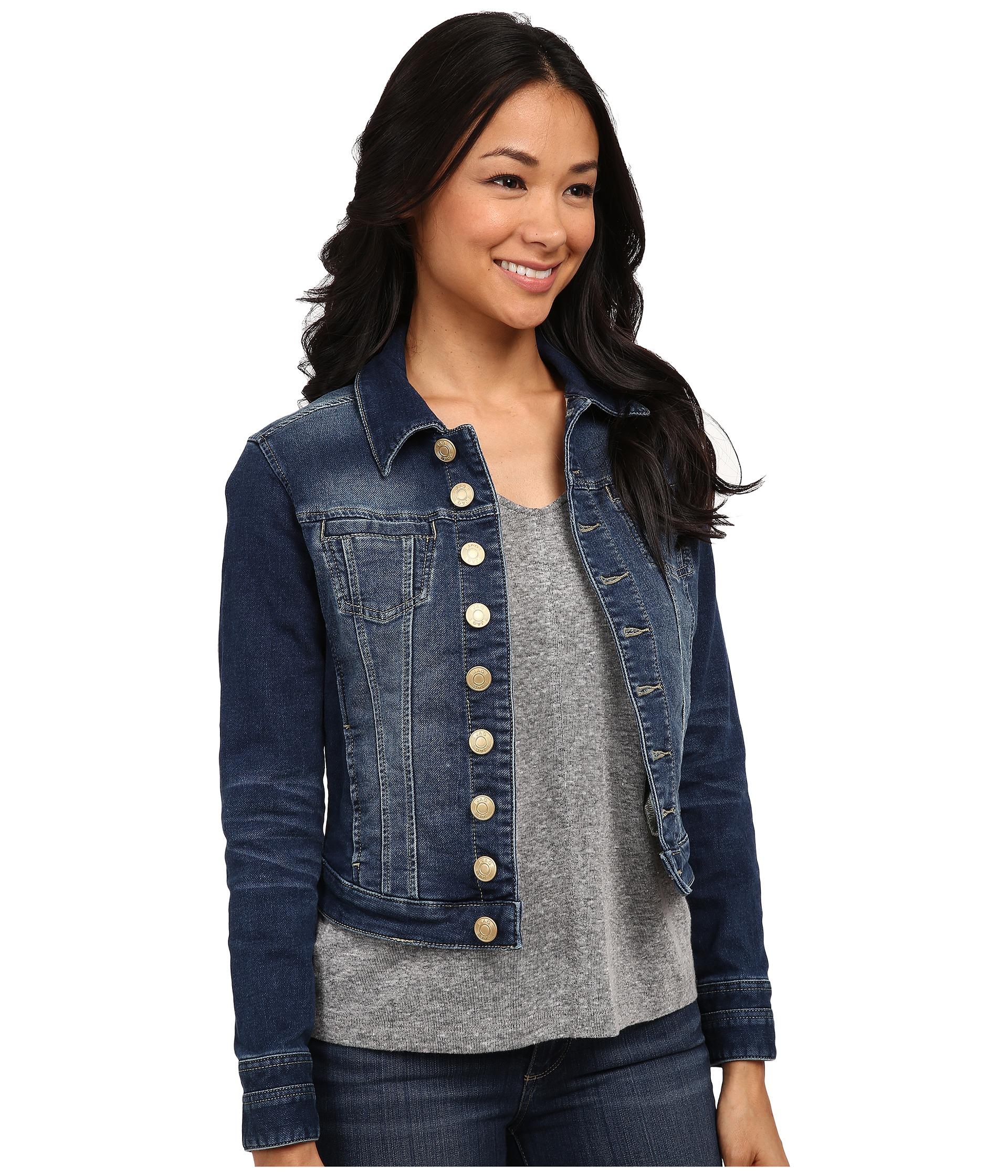 Jag Jeans Petite Petite Savannah Jacket in Forever Blue Knit Denim at Zappos.com