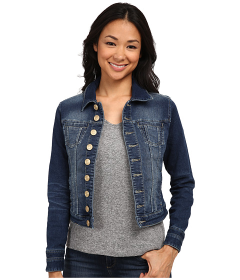 Jag Jeans Petite Petite Savannah Jacket in Forever Blue Knit Denim at Zappos.com