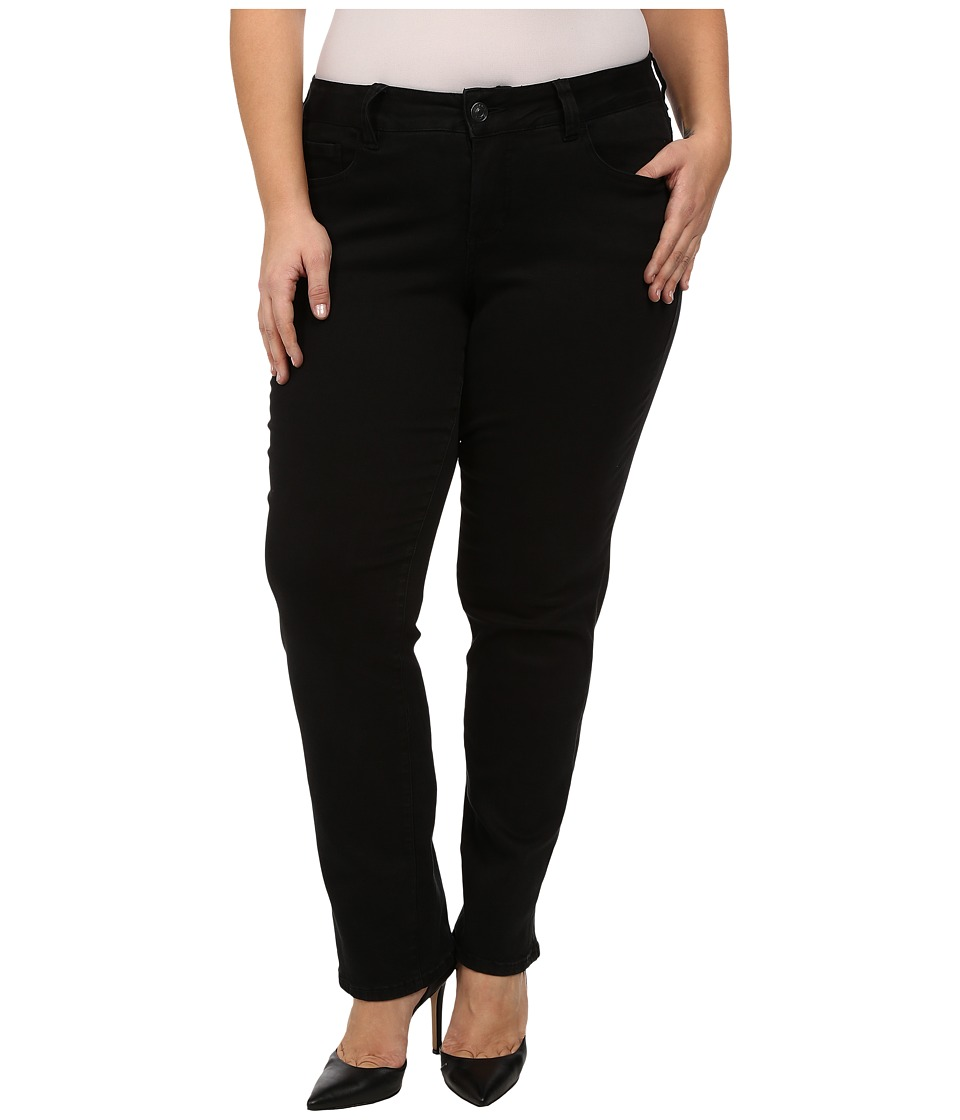 Jag Jeans Plus Size Plus Size Patton Straight in Black Republic Denim Black Womens Jeans
