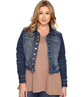Jag Jeans Plus Size - Plus Size Savannah Jacket in Forever Blue Knit Denim