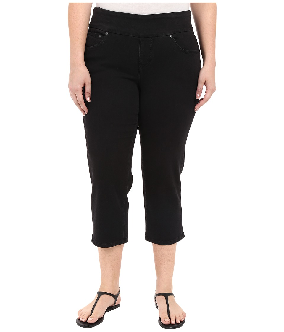 Jag Jeans Plus Size Plus Size Echo Crop in Dolce Twill Black Womens Jeans