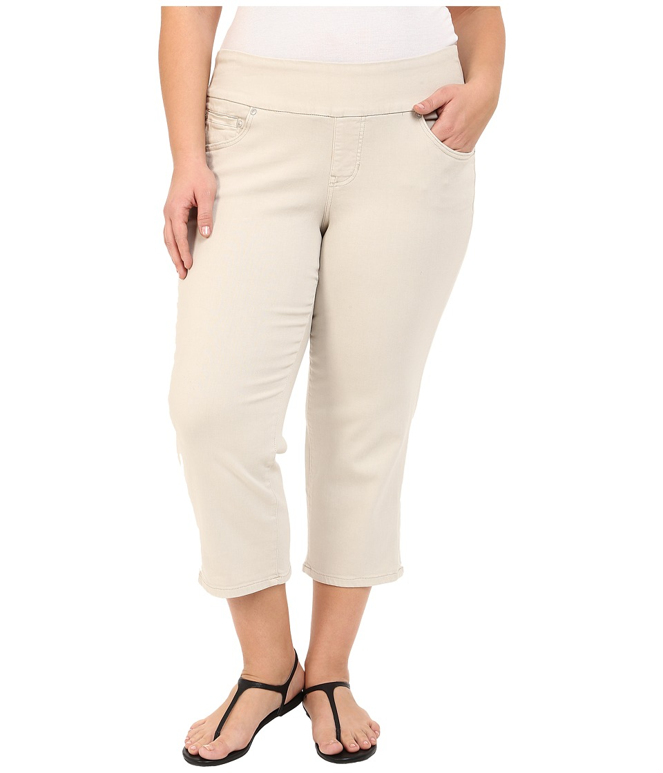 Jag Jeans Plus Size Plus Size Echo Crop in Dolce Twill Stone Womens Jeans