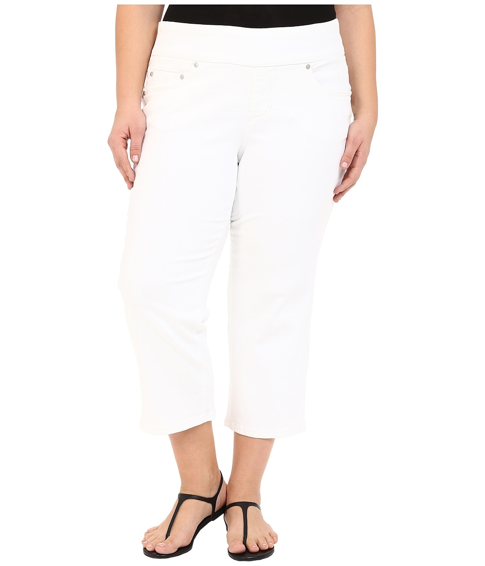 Jag Jeans Plus Size Plus Size Echo Crop in Dolce Twill White Womens Jeans