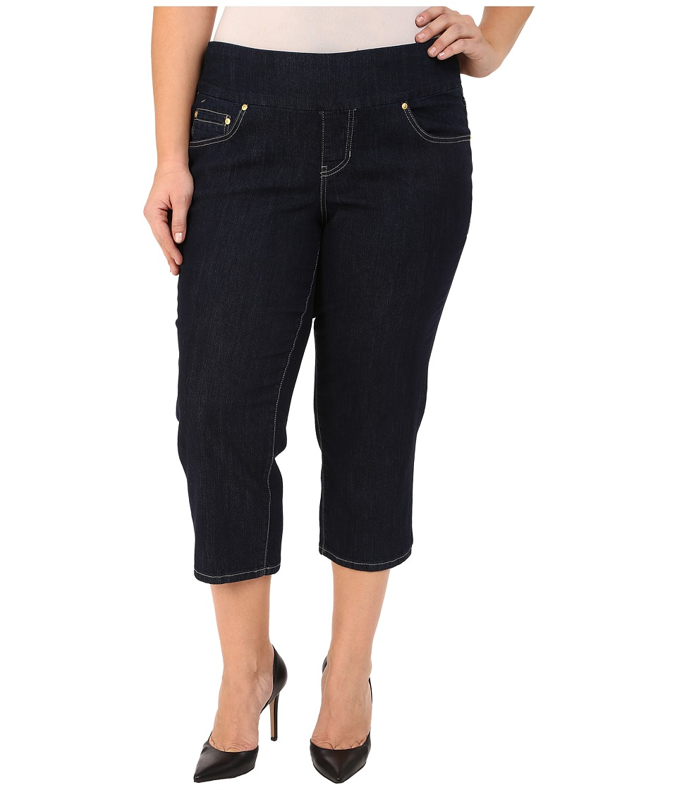 Jag Jeans Plus Size Plus Size Echo Crop in Dark Shadow Comfort Denim Dark Shadow Womens Jeans