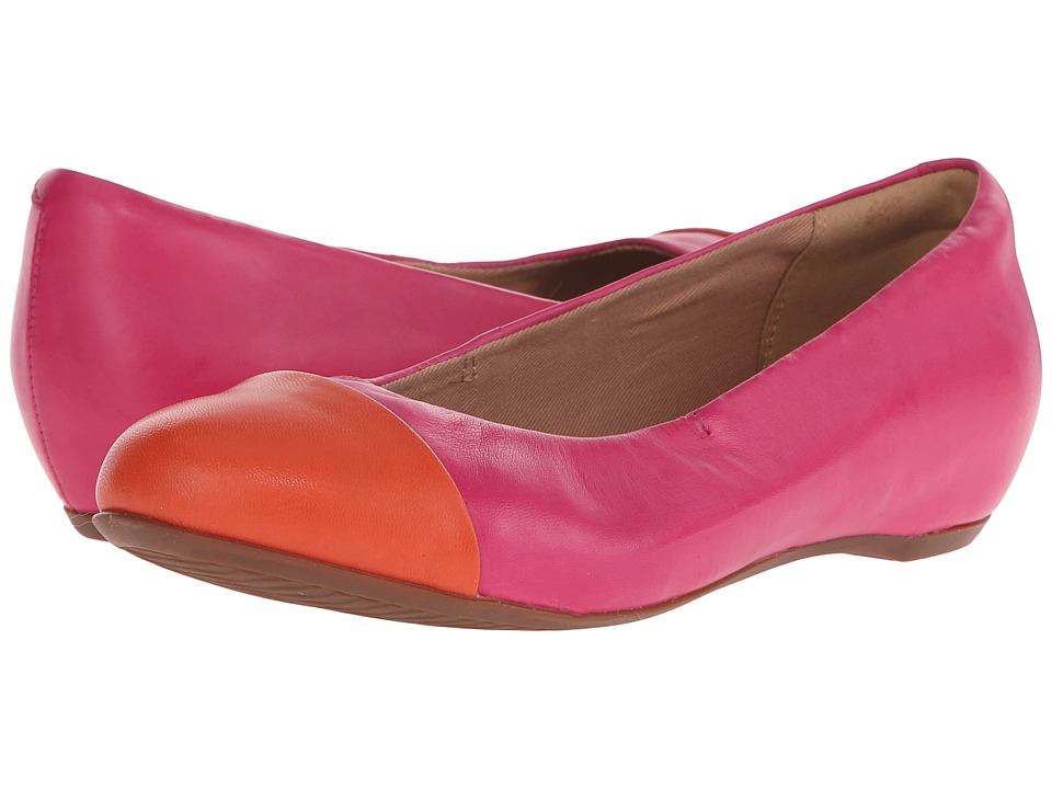 Clarks Alitay Susan Fuchsia Leather Womens Flat Shoes