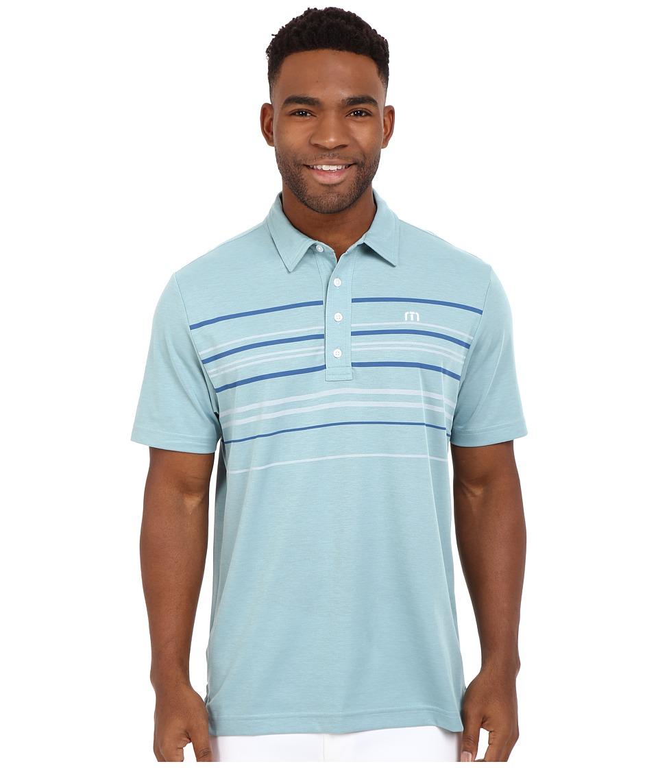 TravisMathew Keel Polo Blue Tint Griffin Mens T Shirt