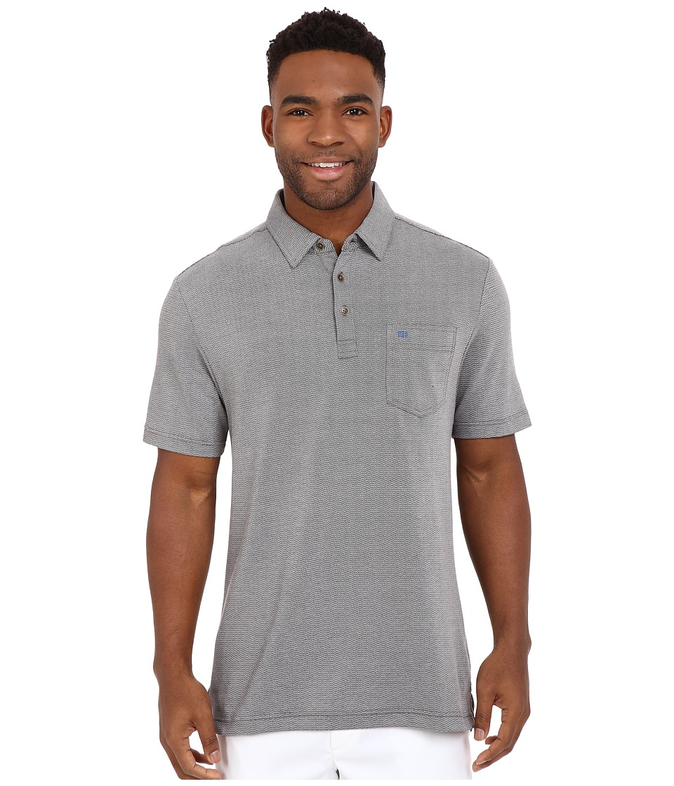 TravisMathew Crest Polo Heather Castlerock Mens T Shirt