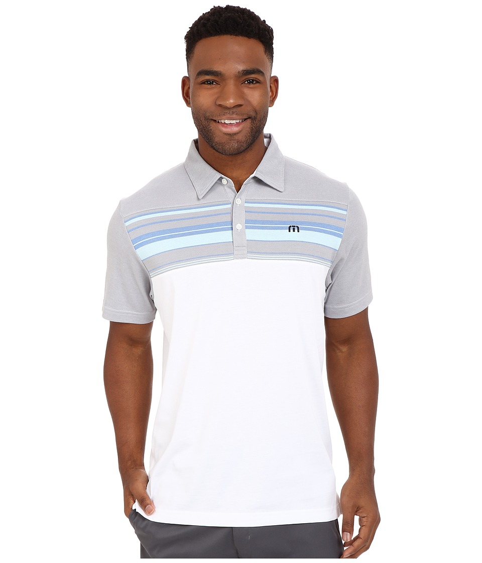 TravisMathew Leeway Polo White Mens T Shirt