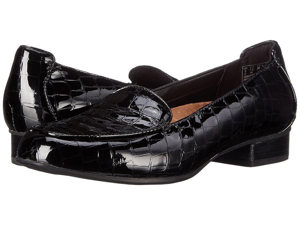 Clarks - Keesha Luca (Black Croco) Womens 1-2 inch heel Shoes