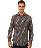 Perry Ellis - Long Sleeve Exclusive Multicolor Tile Print Shirt