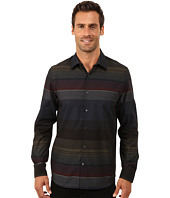 Perry Ellis - Slim Fit Engineered Stripe Pattern Shirt
