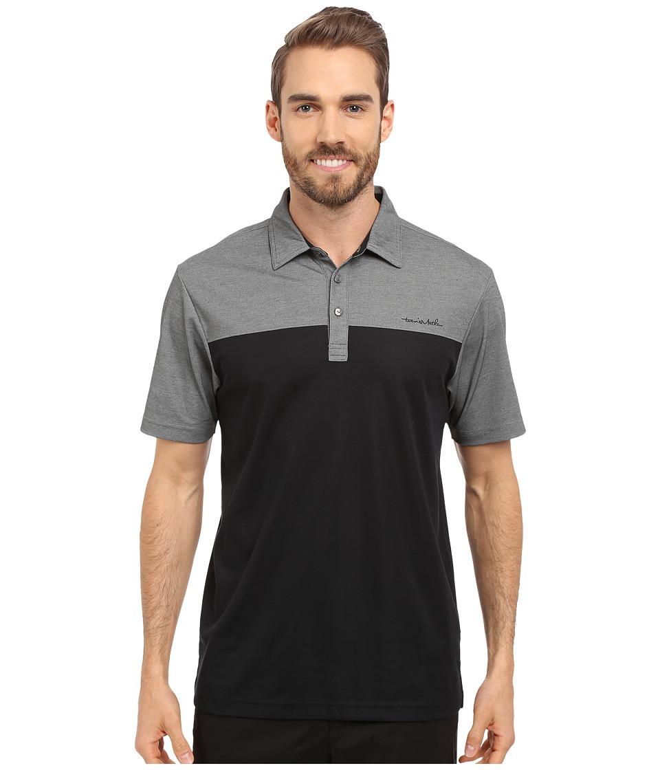 TravisMathew Rudder Polo Black Mens Short Sleeve Pullover