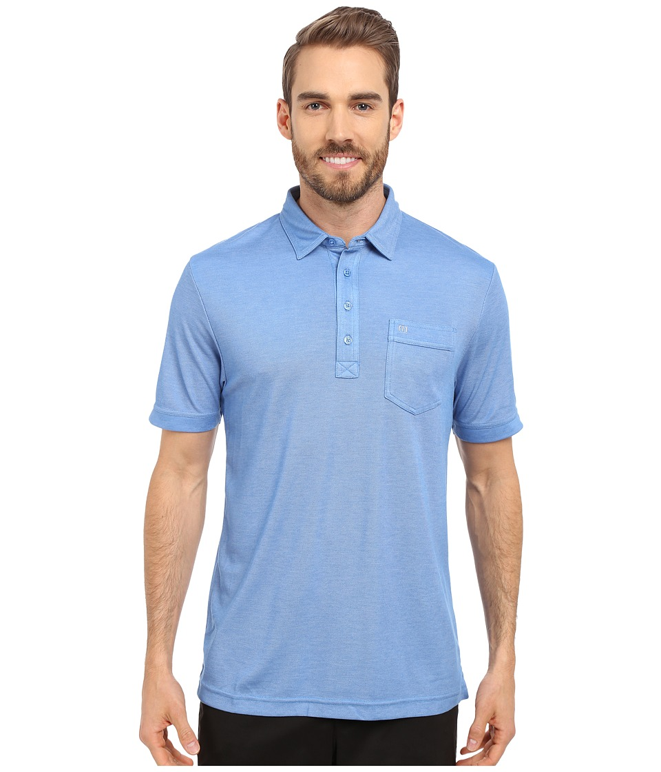 TravisMathew Keely Polo Heather Daphne Mens Short Sleeve Pullover