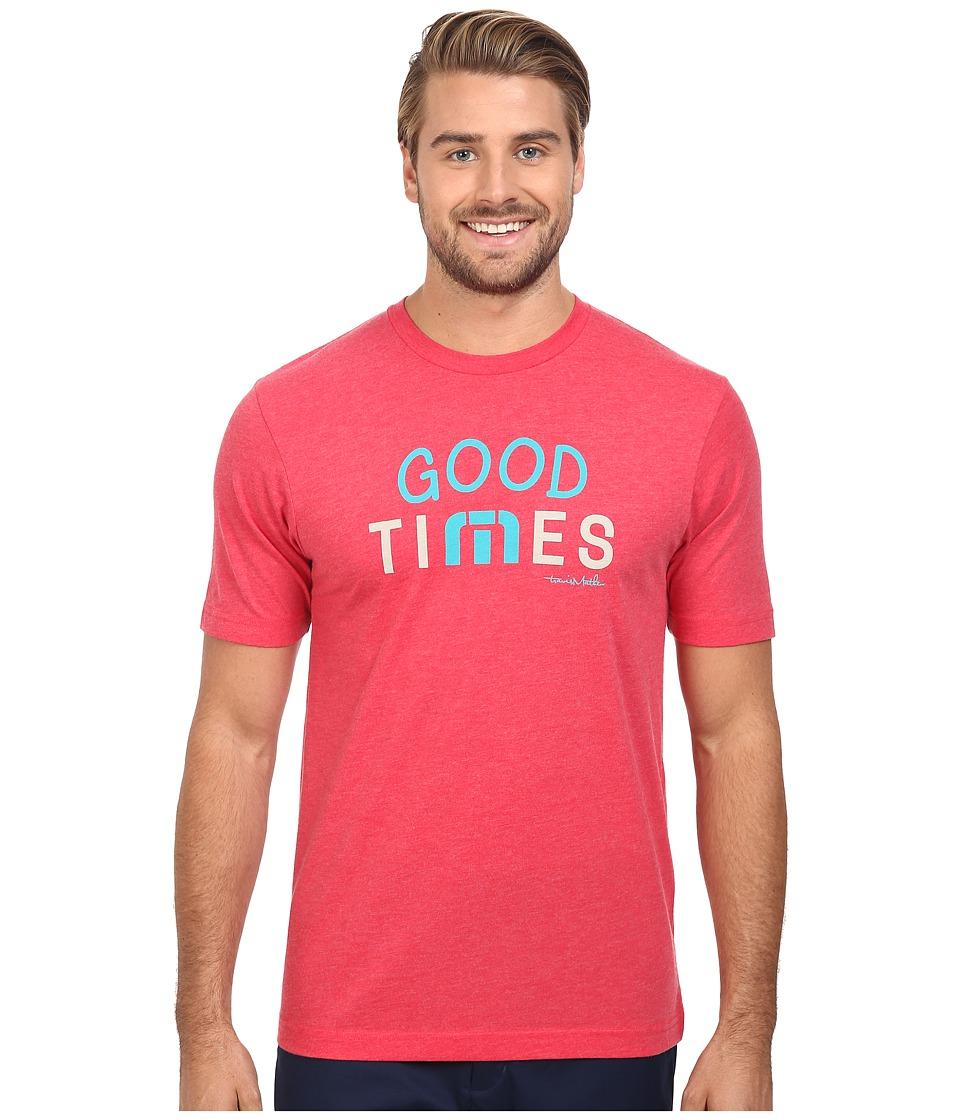 TravisMathew - Good Times Tee (Heather Red) Men