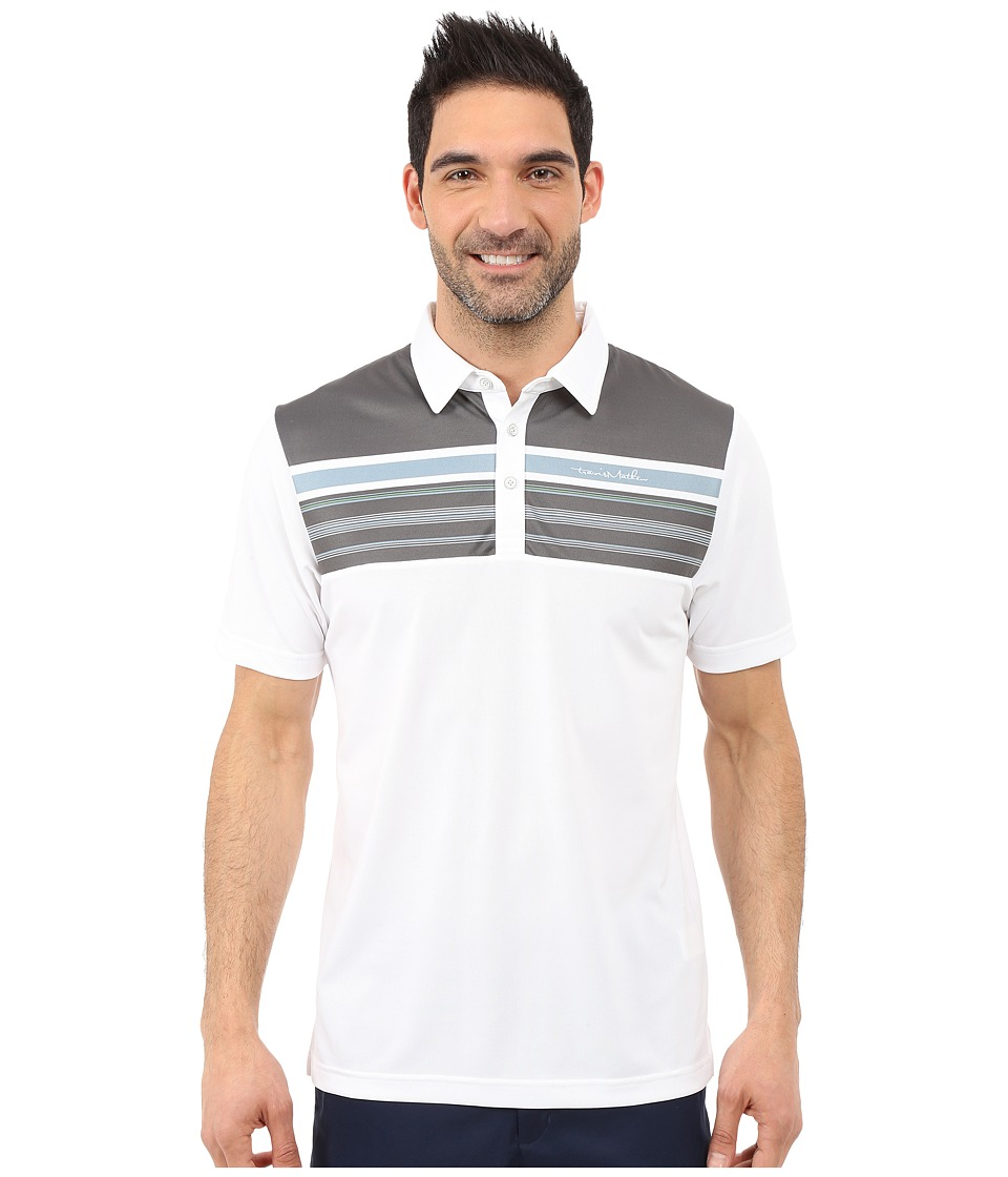TravisMathew Tall Paul Polo White Mens Short Sleeve Pullover