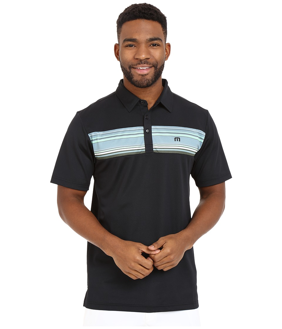 TravisMathew Boardwalk Polo Black Mens Short Sleeve Pullover