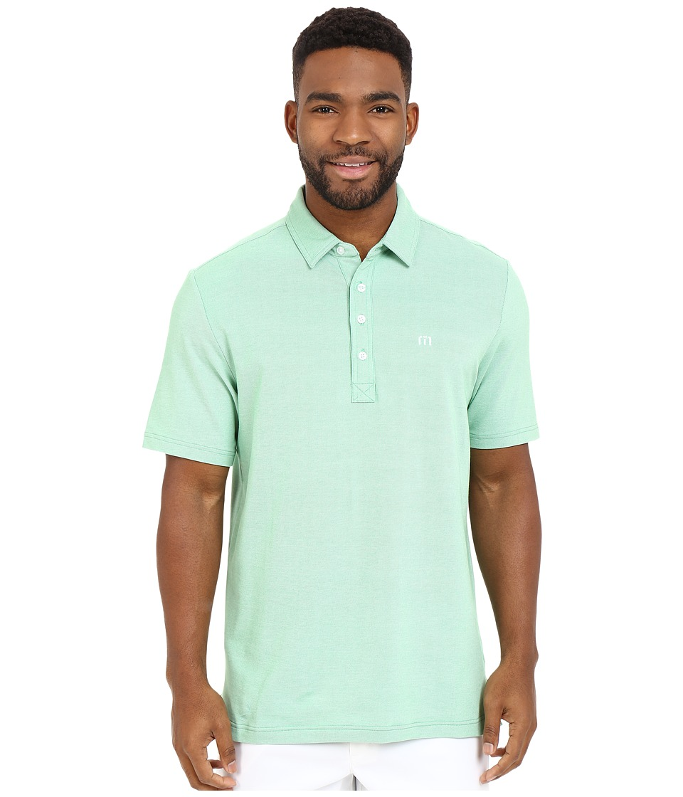 TravisMathew Kruger Polo Heather Kelly Green Mens Short Sleeve Knit