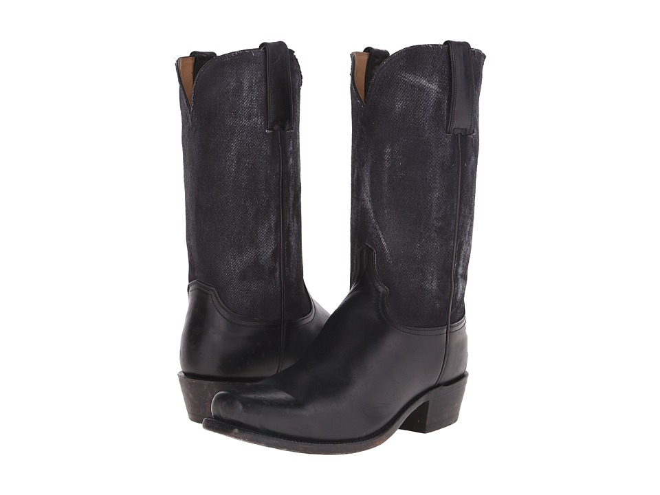 Lucchese GY1525.73 (Black) Cowboy Boots