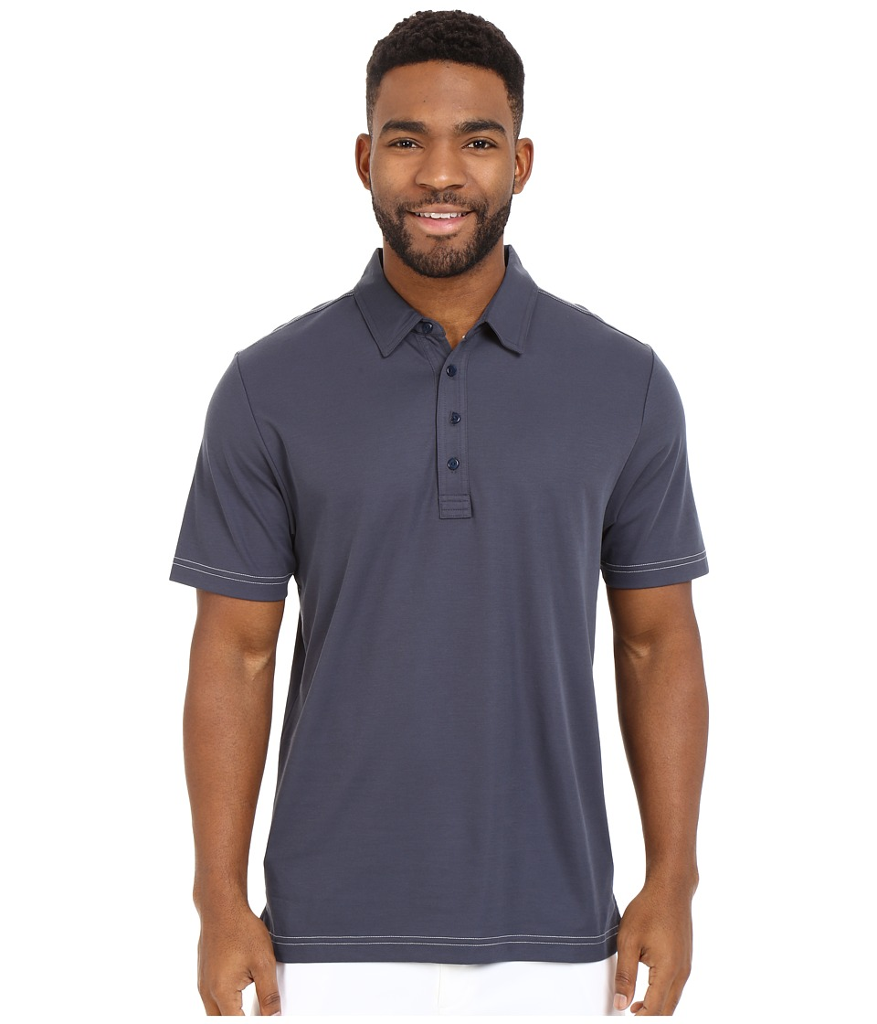 TravisMathew Crenshaw Polo Navy Mens Short Sleeve Pullover