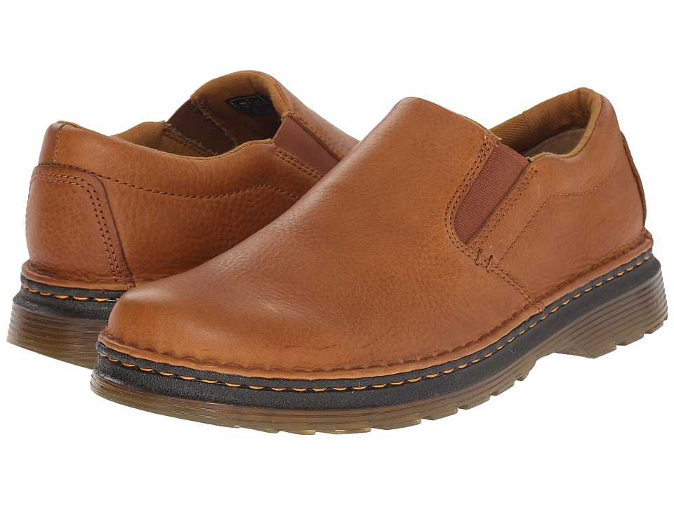 Dr. Martens - Boyle Slip-On Shoe (Tan/Biscuit Grizzly/Hi Suede WP) Men