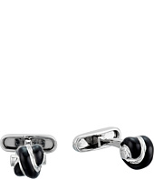 Salvatore Ferragamo - Sterling and Enamel Knot Cufflinks