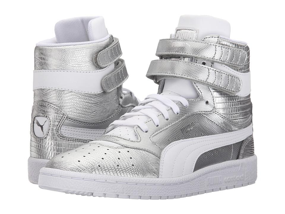 PUMA - Sky II Hi Texture (Puma Silver/White) Womens Shoes