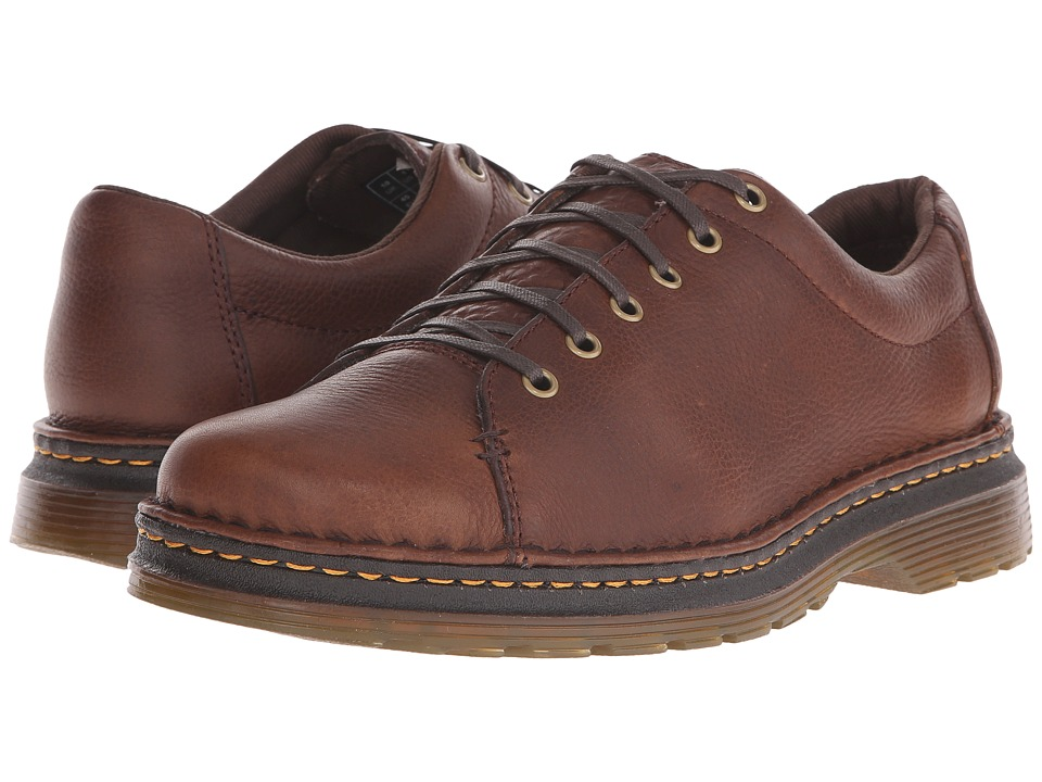 Dr. Martens - Healy 6-Tie LTT Shoe (Dark Brown Grizzly/Hi Suede WP) Men