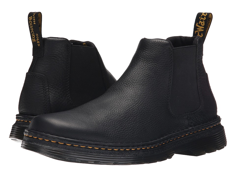 Dr. Martens - Oakford Chelsea Boot (Black Grizzly/Hi Suede WP) Mens Pull-on Boots