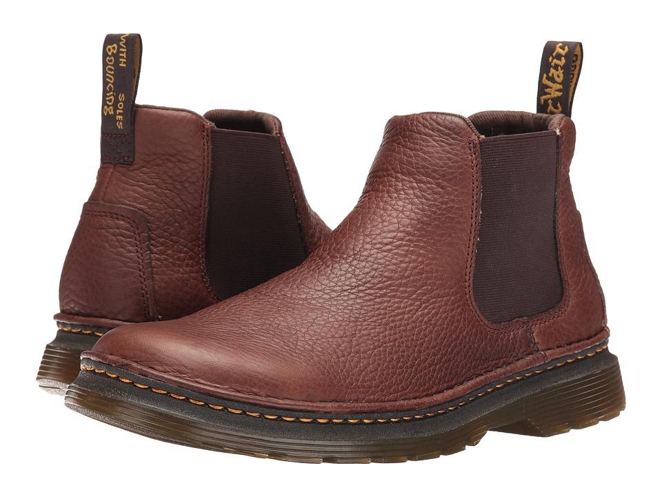 Dr. Martens - Oakford Chelsea Boot (Dark Brown Grizzly/Hi Suede WP) Men
