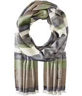 Salvatore Ferragamo - Multi Color Stripe Cotton/Cashmere Scarf