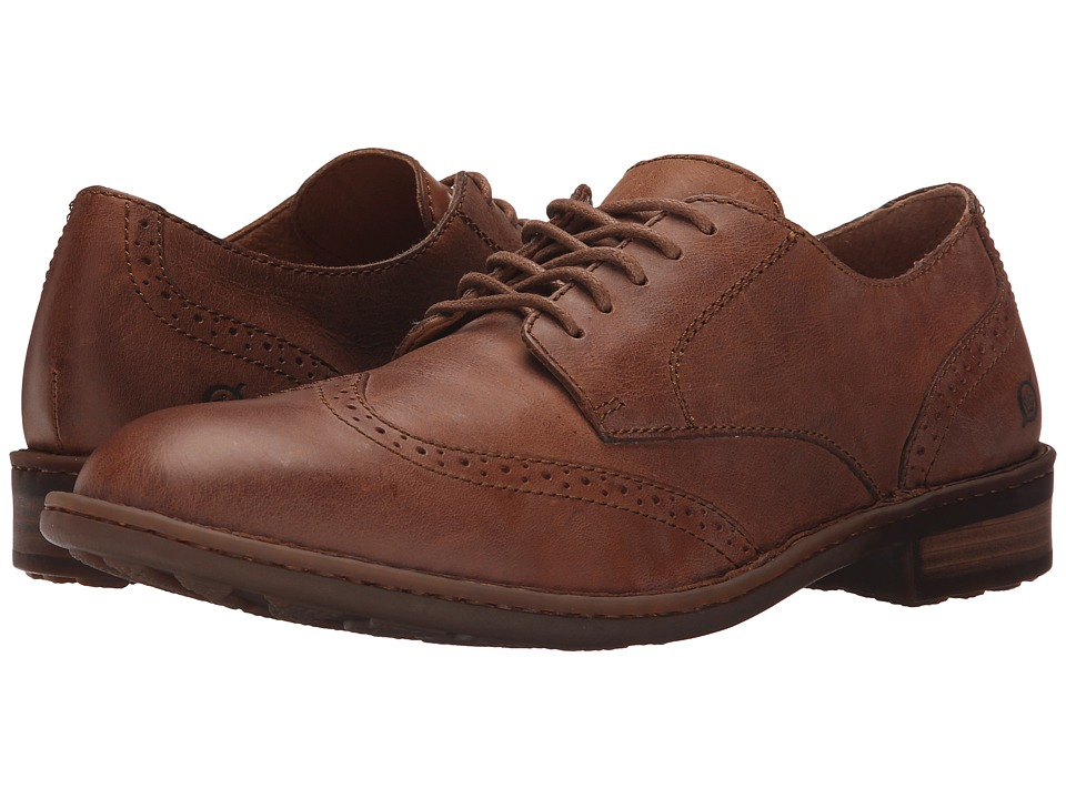 Born Bainbridge Pretzel Full Grain Leather Mens Lace Up Wing Tip Shoes