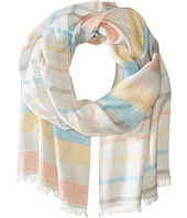 Salvatore Ferragamo - Ombre Striped Linen Silk Scarf