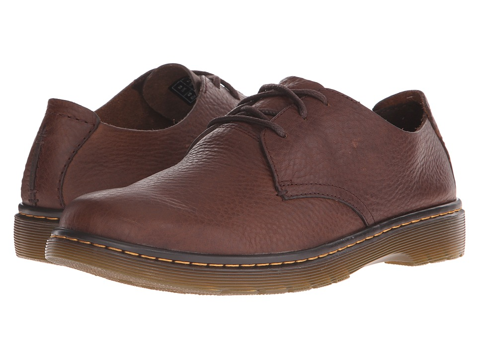 Dr. Martens - Bexley 3-Eye Shoe (Dark Brown Grizzly) Men