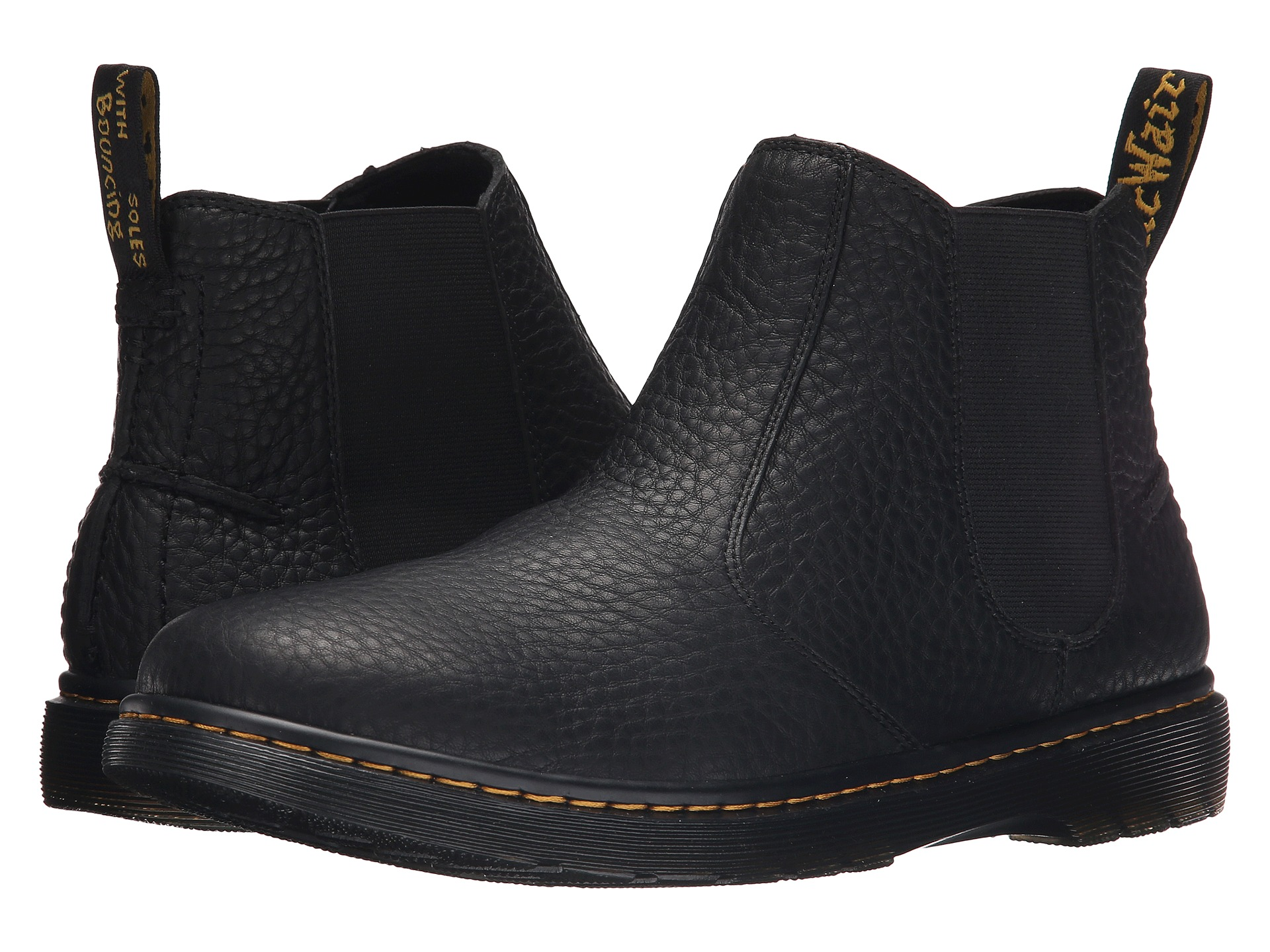 dr martens lyme chelsea boot black grizzly free shipping both ways. Black Bedroom Furniture Sets. Home Design Ideas