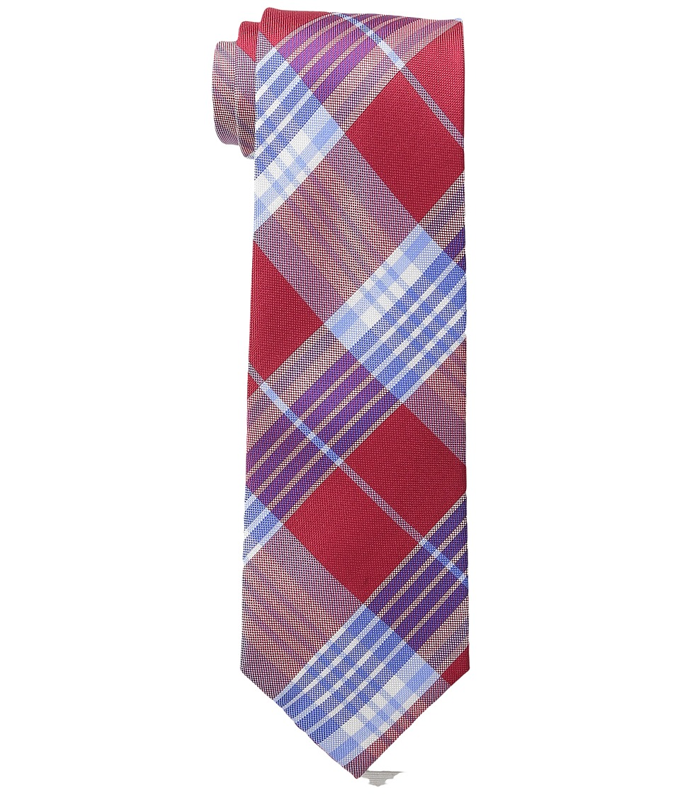 Tommy Hilfiger Big Twill Plaid Red Ties