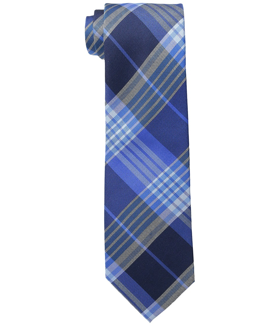 Tommy Hilfiger Big Twill Plaid Blue Ties